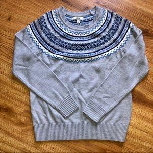 Bass Faire Isle Blue Sweater S